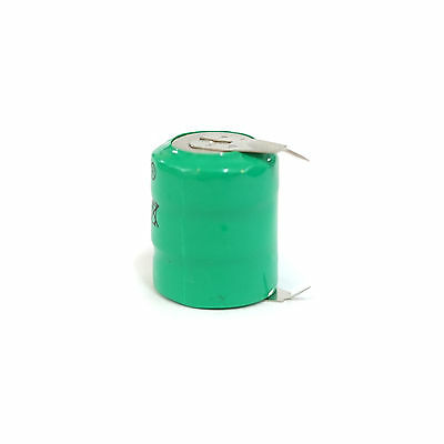 1 pcs 80mAh 3.6V Ni-MH Button Cell Rechargeable Battery w/ Tab Green