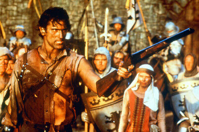 Army Of Darkness Color Movie 24X36 Poster Print Bruce Campbell With Shotgun