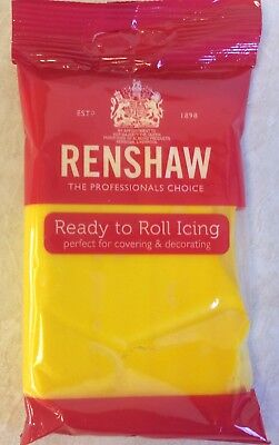 250g YELLOW Renshaw Regalice / Decorice - roll out sugarpaste / icing
