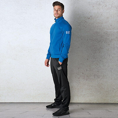 Mens Emporio Armani EA7 Mens Train Core ID Tracksuit in black blue - XL