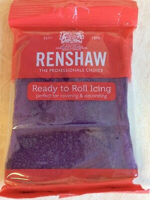 250g DEEP PURPLE Renshaw Regalice / Decorice - roll out sugarpaste / icing