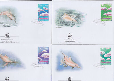 052815 WWF Delfine Dolphins Hong Kong FDC First Day Cover ´s