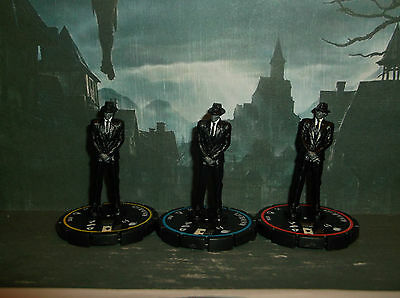 HORRORCLIX Man In Black R.E.V.SETof 3 Pieces #082, #083 & #084 W/CARDS The Lab""