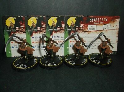 HORRORCLIX Scarecrow 4 miniatures #046, Rookie, Yellow, W/Cards Base Set