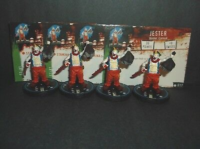 """HORRORCLIX  Jester 4 miniatures #017, Experienced, Blue, """"NEW"""" W/Cards Base Set"""