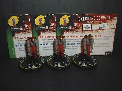 HORRORCLIX Executed Convict 3 miniatures #052, Rookie, Yellow, W/Cards Base Set