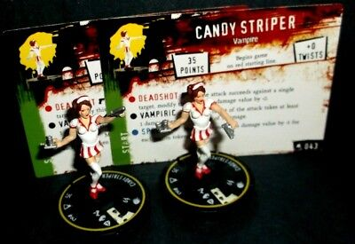 "HORRORCLIX Candy Striper X2 Pieces #043, Rookie -Yellow- W/CARDS ""The Lab"""