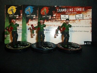 HORRORCLIX Shambling Zombie R.E.V. Set of 3 miniatures #028, #029, & #030,