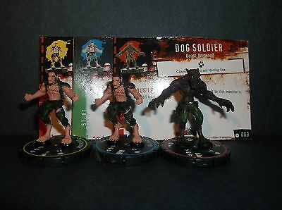 HORRORCLIX  Dog Soldier R.E.V. Set of 3 miniatures #001, #002, & #003 Base Set