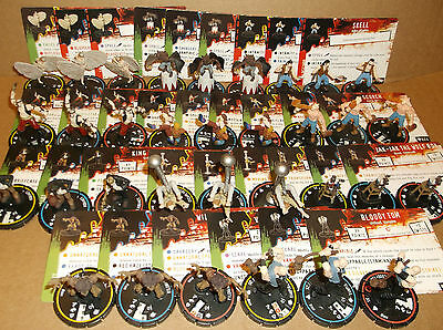 HORRORCLIX 11 Full R.E.V. SETS W/CARDS (33 MINI's)10 in game cards &10 game Pogs