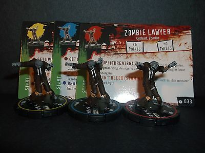 HORRORCLIX Zombie Lawyer R.E.V. Set of 3 miniatures #031, #032, & #033, Baes Set