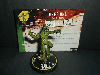 HORRORCLIX Deep One #058, Rookie, Yellow, W/Card Base Set