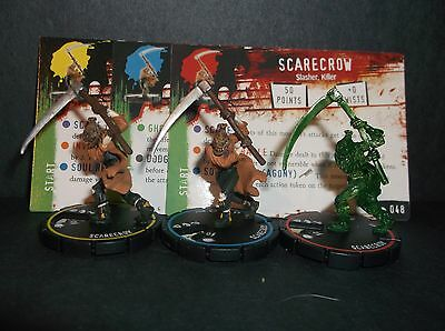 HORRORCLIX Scarecrow R.E.V. Set of 3 miniatures #046, #047, & #048, Base Set