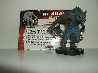 HORRORCLIX  Dire Werewolf #093 Rare W/CARDS Base Set