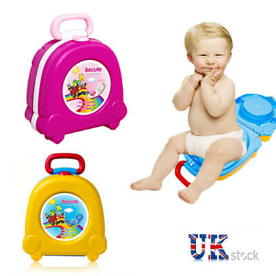 Toddlers Baby Potty Training Urinal Pee Pot Toilet Bowl Car Travel Chair Seat