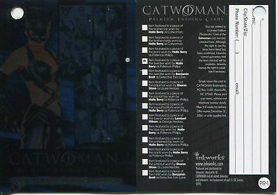 Catwoman The Movie Pieceworks Redemption Card PR-1 [PW4] Redeemed [Clean]