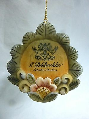 G. DeBrekht Artistic Studios Handcrafted Floral Item Display Ornament Tag