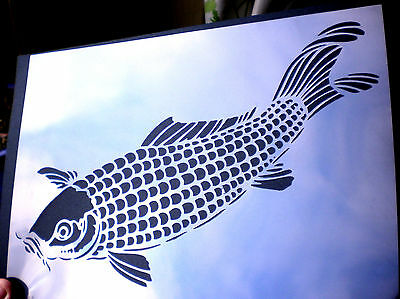 high detail airbrush stencil carp FREE UK  POSTAGE