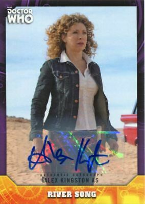 Doctor Who Signature Series Purple [10] Autograph Card A. Kingston As River Song