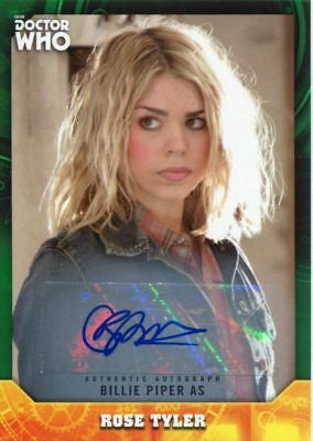 Doctor Who Signature Series Green [50] Autograph Card Billie Piper As Rose Tyler
