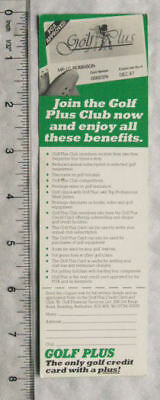 1988 bookmark - AA Guide to Golf Courses + Golf Plus Club