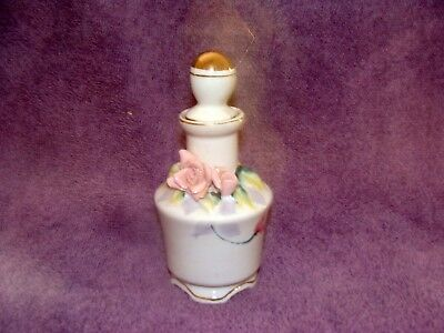 Vintage Thames Hand Painted Bone China Decanter - Pink Roses - Japan