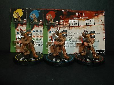 HORRORCLIX Hook R.E.V. Set of 3 miniatures #073, #074, & #075, Base Set