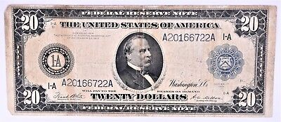 1914 $20 US Federal Reserve Note (a255.54)