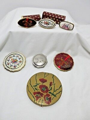 LOT OF Vintage Compacts And Lipstick Holders Some Matching - Stratton -PLUS