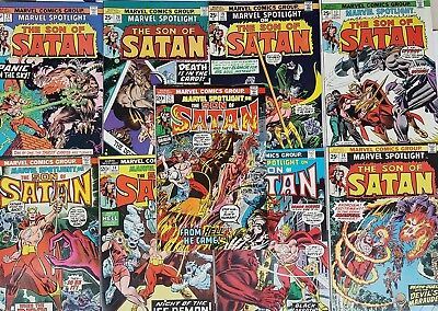 Marvel Spotlight Son of Satan 12 to 21 Run  Origin 2nd Appearance Marvel 1974 FN