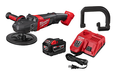 "Milwaukee M18 7"" Variable Speed Polisher (Bare) 2738-20 - 9.0 Battery & Charger"
