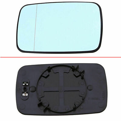 for BMW E46 3 Series E39 5 Series Heated Blue Door Mirror Glass Left Driver Side
