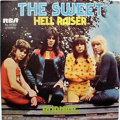 "The Sweet: "" Hell Raiser - Burning ""  1973 D"