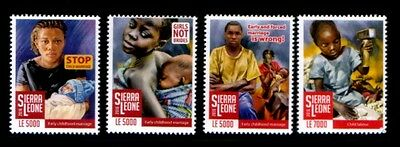 SIERRA LEONE Fight Against Child Abuse & Childhood Marriage MNH set