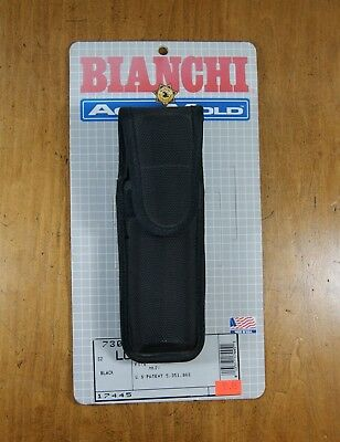 Bianchi AccuMold Mace/Pepper Spray Holder Closure Large Black 17445 NEW, L-0414
