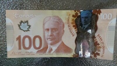 Canadian $100 Dollar Bank Note Polymer Bill GJG3710081 Circulate 2011 Canada
