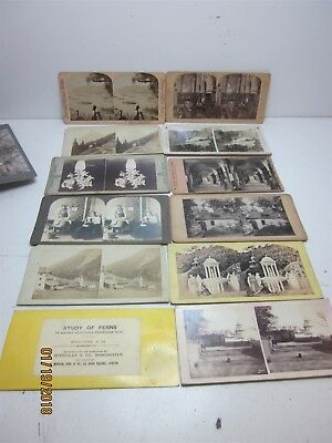 Large Lot of Assorted Antique Stereoscopic View Cards 1902+