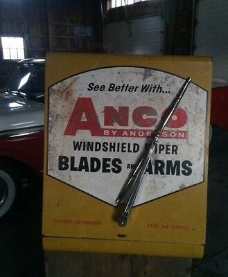 VINTAGE 1950-1960s ANCO WINDSHIELD WIPER AUTO SHOP DISPLAY CABINET SIGN GAS OIL