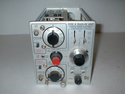 Tektronix Type Z PLUG-IN UNIT DIFFERENTIAL COMPARATOR  PREAMPLIFIER  BOX#7S