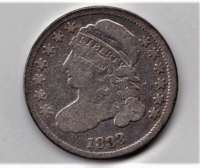 Pre Civil War Silver 1833 Capped Bust Type Dime Respectable BARGAIN BOX Coin
