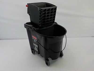 Rubbermaid Commercial Executive Series WaveBreak Mopping System, 35-qt, Black