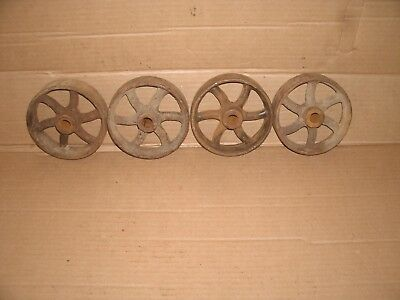 Old Vintage Cast Iron Wheel Lot Steampunk Hardware Industrial Wall Art Part Lot