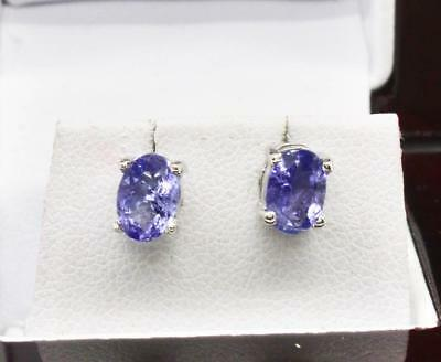 Amazing Diamond Cut .84ctw Natural Tanzanite Sterling Silver Stud Earrings