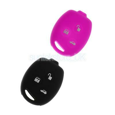 2x Car Key Shell Fob Case Cover Protector for Ford Fiesta Purple+Black