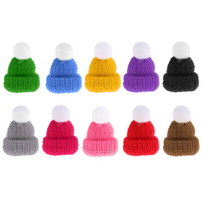1:12 Scale Knitted Beanie Hat Cap Dolls House Miniature Clothing Accessories