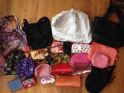 Large lot makeup cosmetic bags pouches sacks small purse kipling mac 30 items!
