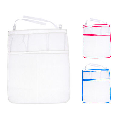 Kids Portable Mesh Diapers Organizer Baby Bed Cot Hanging Toys Storage Bag