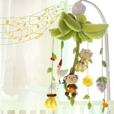 Rotary Newborn Baby Infant Mobile Crib Bed Toy Clockwork Movement Music Box New