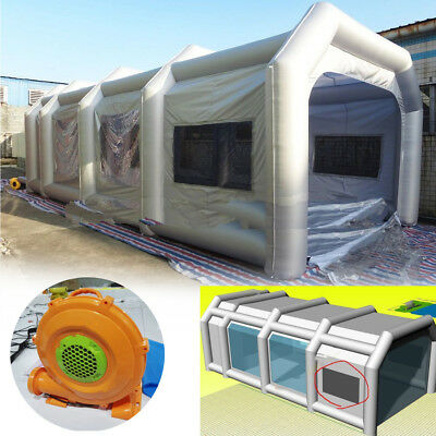 10x5x3.5m Portable Spray Paint Booth Giant Oxford Inflatable Tent With Blower