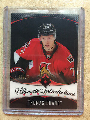 16-17 UD Ultimate RC Rookies Introductions Onyx Black #66 THOMAS CHABOT /25